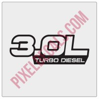3.0L Turbo Diesel Decal