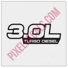 3.0L Turbo Diesel Decal