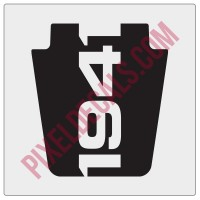 TJ 1941 Hood Blackout Decal