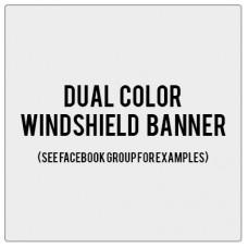 Arizona's Jp Girls Windshield Banner Decal w/ Outline