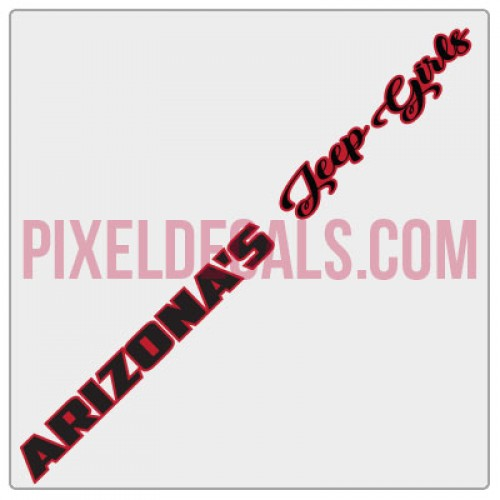 Arizona's Jp Girls Windshield Banner Decal w/ Outline