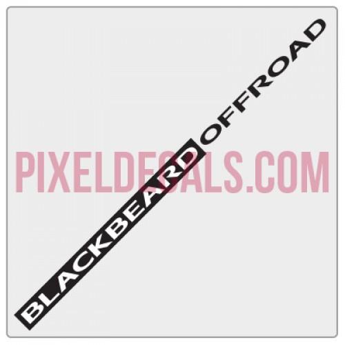 Blackbeard Offroad BBO Banner Decal