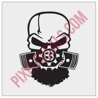 Blackbeard Offroad BBO Skull Decal
