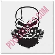 Blackbeard Offroad BBO Skull Decal