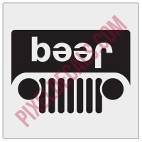 Beer Jp JL Grille Decal