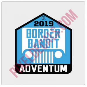 Border Bandit Badge Decal
