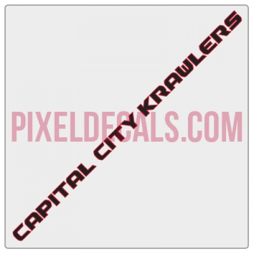 Capital City Crawlers Windshield Banner Decal