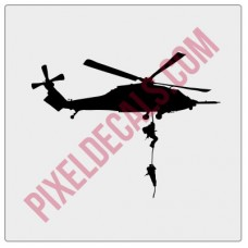 Blackhawk Helicopter Windshield Chaser Decal