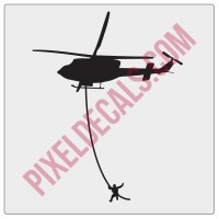 Helicopter Windshield Chaser Decal