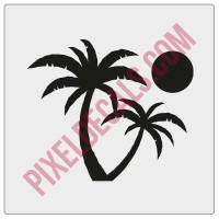 Palm Trees Windshield Chaser Decal