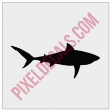 Great White Shark Windshield Chaser Decal