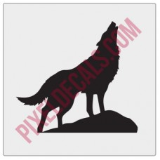 Howling Wolf Chaser Decal