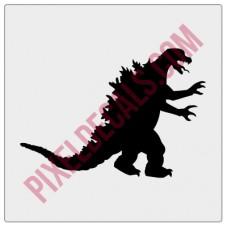 Godzilla Windshield Chaser Decal