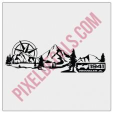 JL Dashboard Mountain+Compass w/ 1941 Decal (V3)
