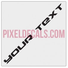 """Customizable """"Drive"""" Hood Lettering Decals (Pair)"""