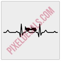 4x4 Heartbeat Decal