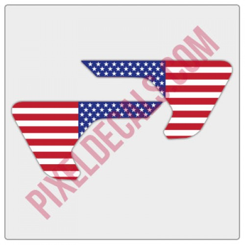 JL/JT Fender Vent Full Color American Flag Decal Pair