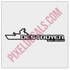 Destroyer Gray Edition Decal (Pair)