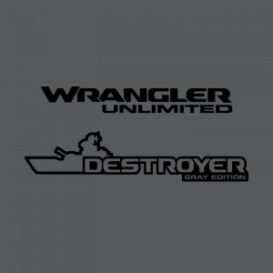 JL Destroyer Gray Edition Decal (Pair)