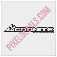 JL Granite Crystal Decal (Pair)