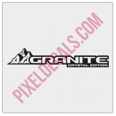 Granite Crystal Decal (Pair)