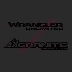 JL Granite Crystal Decal (Pair)