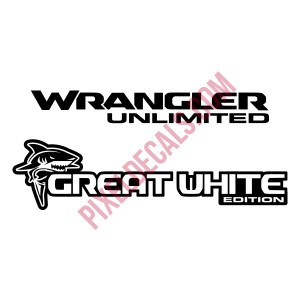 JL Great White Edition Decal (Pair)
