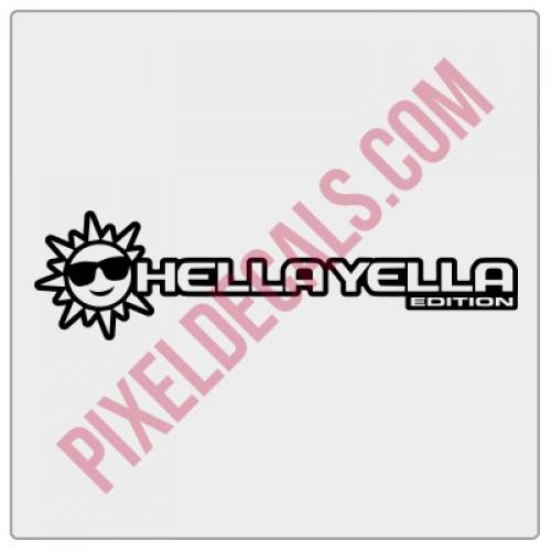 JL Hella Yella (Sun) Edition Decal (Pair)