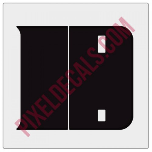 2018+ JL Tailgate Blackout Decal Pair - 1 Color