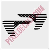 2018+ JL/JT Fender Vent American Flag Blackout Decal Pair