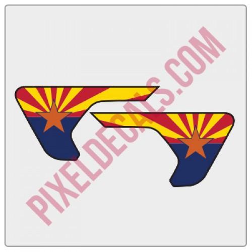 2018+ JL/JT Fender Vent Arizona Flag Color Decal Pair
