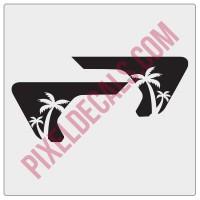 JL/JT Fender Vent Palm Tree Blackout Decal Pair