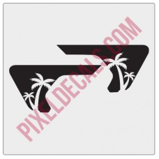 2018+ JL/JT Fender Vent Palm Tree Blackout Decal Pair