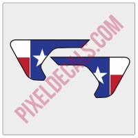 JL/JT Fender Vent Texas Flag Color Decal Pair
