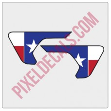 2018+ JL/JT Fender Vent Texas Flag Color Decal Pair