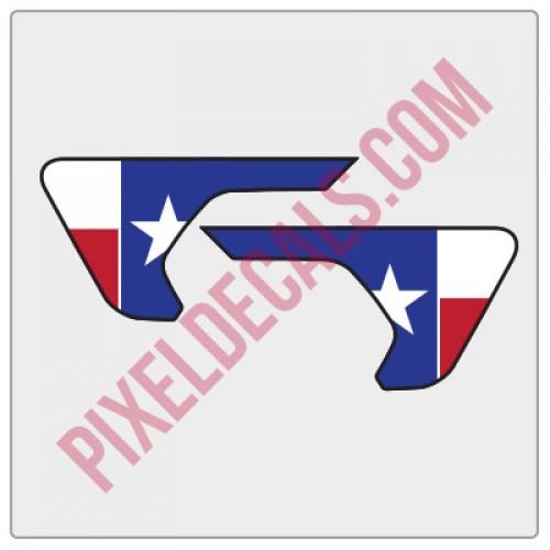 JL/JT Fender Vent Texas Flag Color Decal Pair