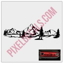 Dashboard Mountain Decal (V1)