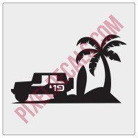 JLWF Jeep Beach 2019 Decal
