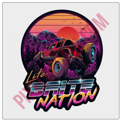Lite Brite Nation Neon Crawl Decal