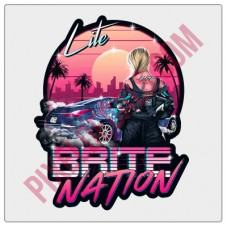 Lite Brite Nation Neon Drift Decal
