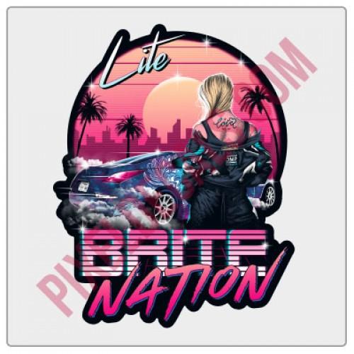 Lite Brite Nation Neon Drift Decal