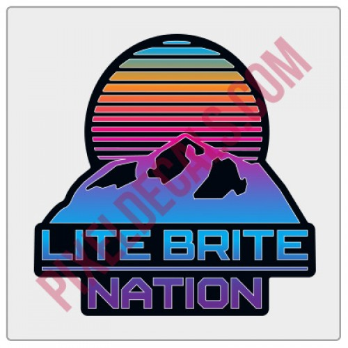 Lite Brite Nation Logo Decal