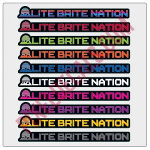 Lite Brite Nation Banner Decal