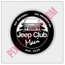 Jp Club Maui Round Decal
