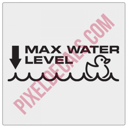 Max Water Level (Duckie) Decal