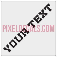 "Customizable ""Militia Stencil"" Hood Lettering Decals (Pair)"