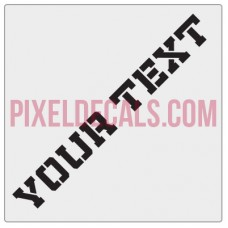 "Customizable ""Militia Stencil"" Hood Lettering Decals (Pair)"