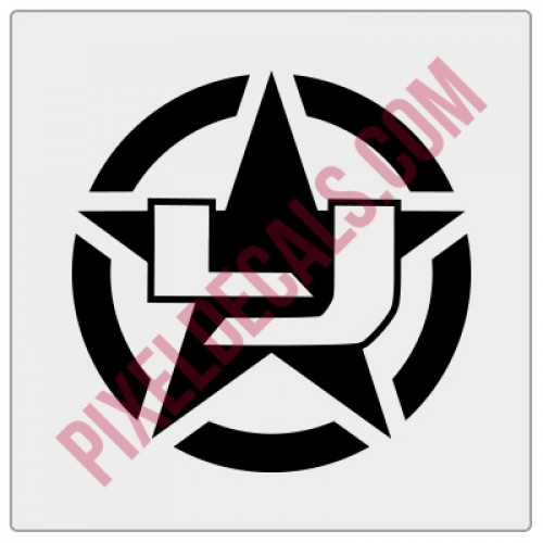 LJ Military Invasion Star Decal