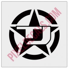 TJ Military Invasion Star Decal