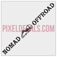 Nomad Offroad Windshield Banner Decal - 1 Color